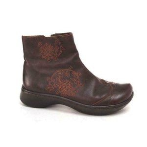 NAOT ankle boots tellin brown zip  embroidered 37